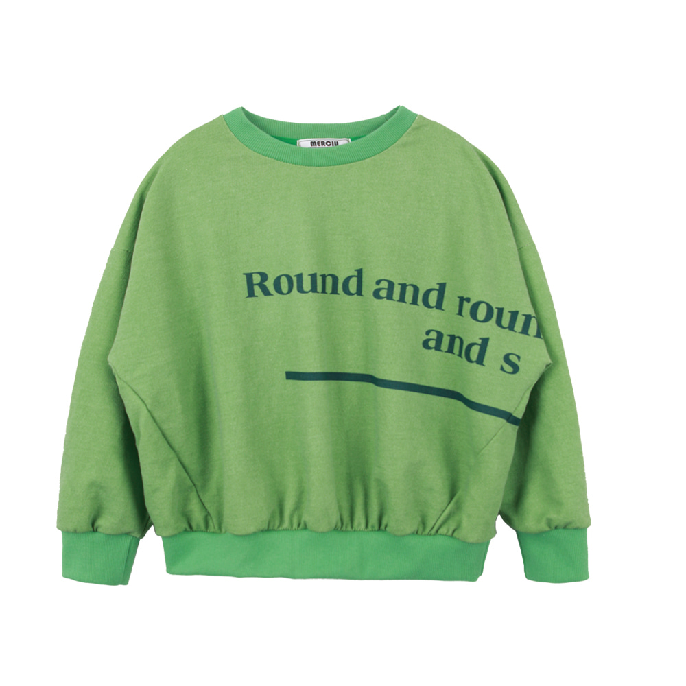 Round Sweatshirt - Green(3차입고,당일발송)
