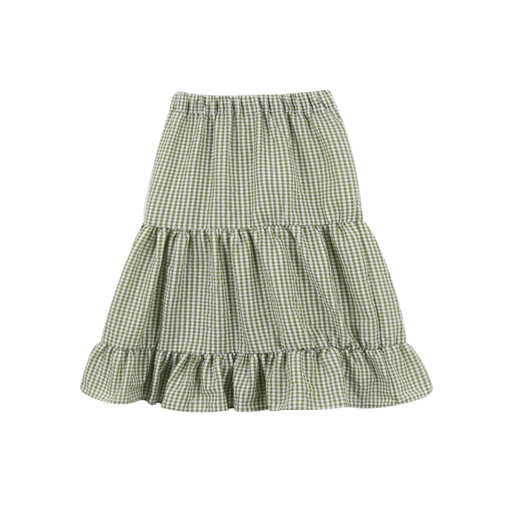 Green check skirt(2차입고, 당일발송)