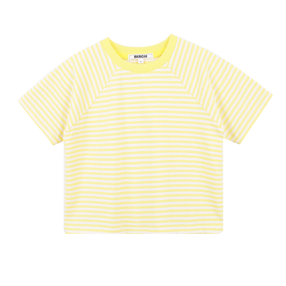 19S/S Stripe Short Sleeve T-shirt - Yellow (4차입고, 당일발송)