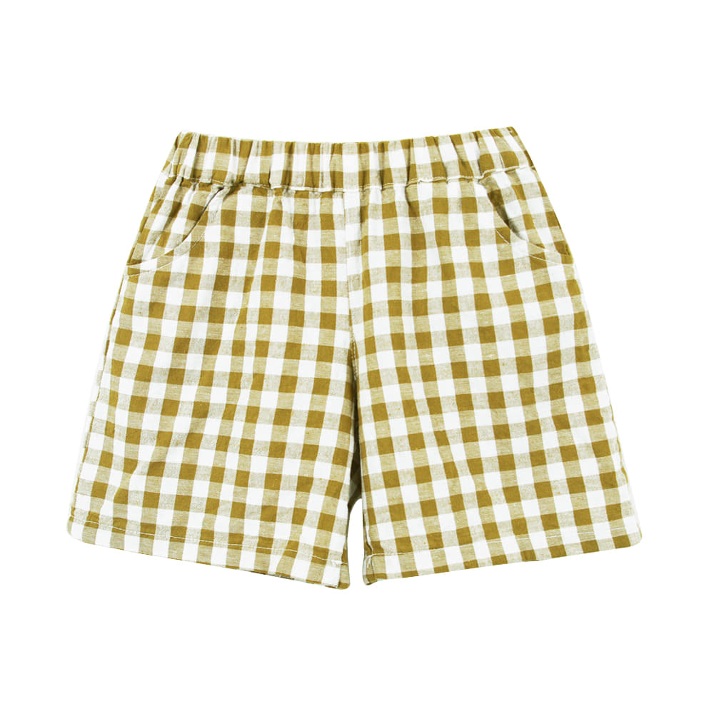 19 S/S Check Short Pants -  Green (2차입고, 당일발송)