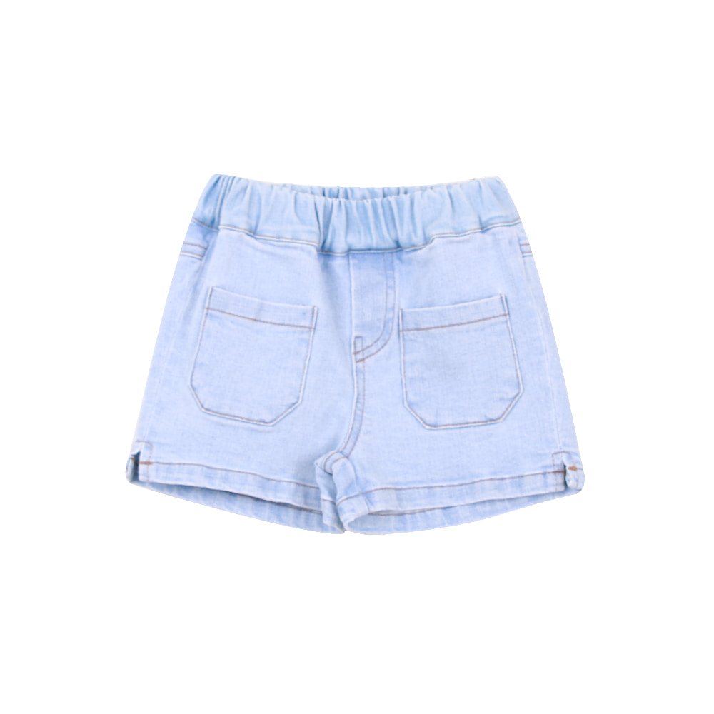 20 S/S Slit Short Pants - denim (5차 프리오더)