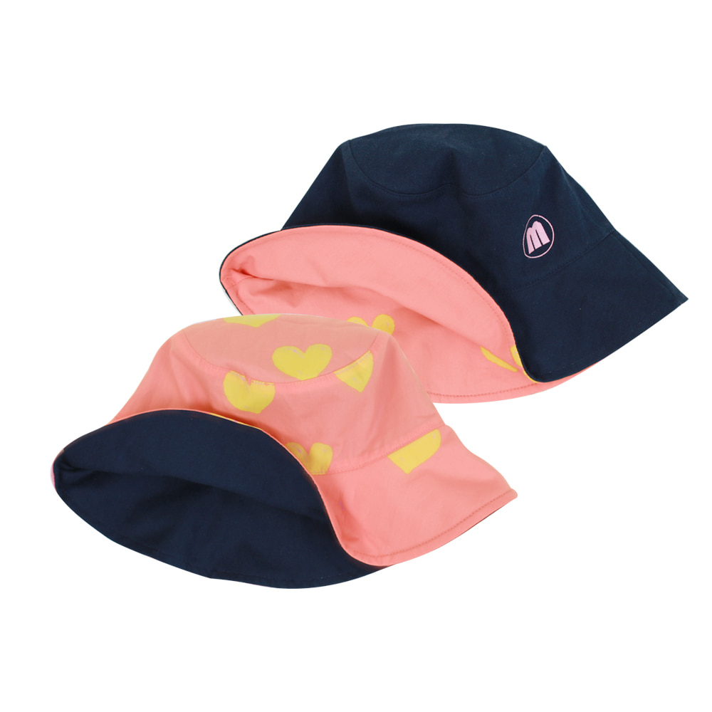 Heart reversible bucket hat (당일발송)