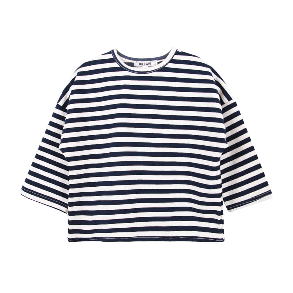19S/S Striped T-shirt - Navy(90-110가능, 당일발송)