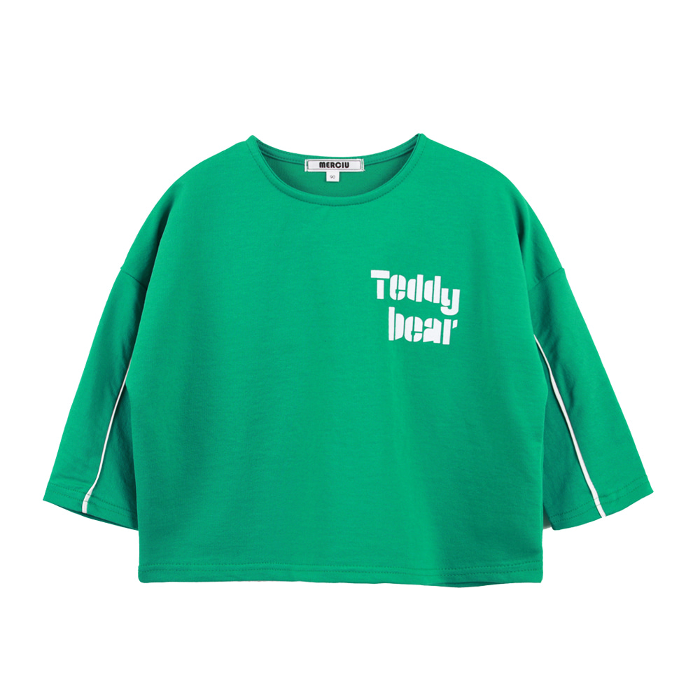 Teddy bear T-shirt - Green(2차입고, 당일발송)