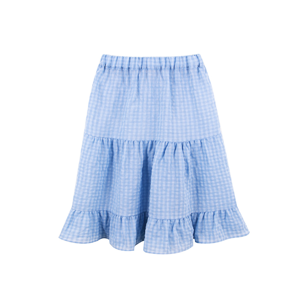 Gingham Check Skirt - Blue (2차입고, 당일발송)