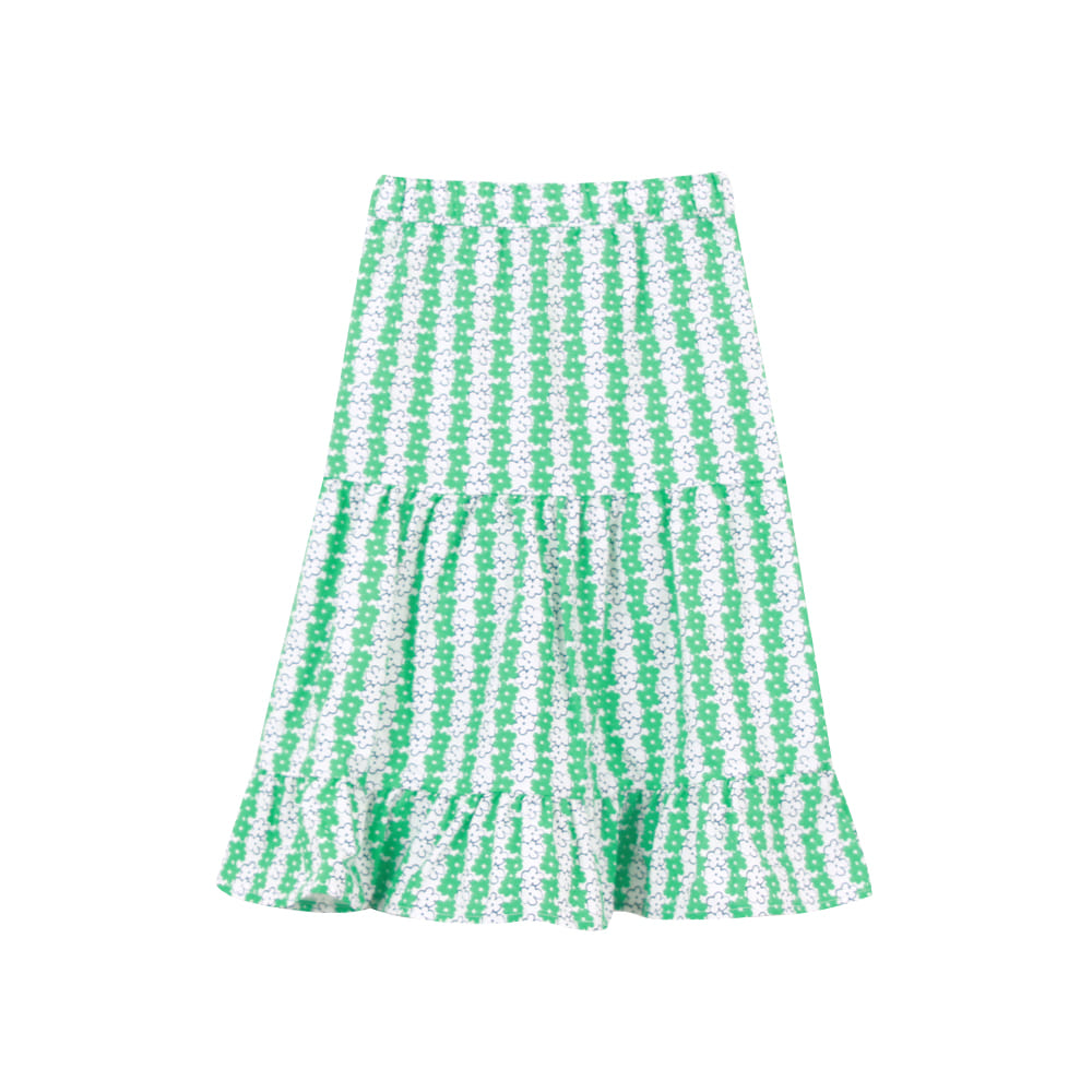 Green flower skirt (프리오더)